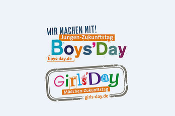 Symbolbild mit den bunten Logos des Boys' and Girls' Day